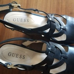 Guess Shoes - Guess Wedge Shoes Black Size 7